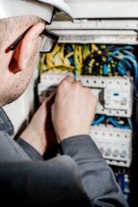 electrical repair closeup