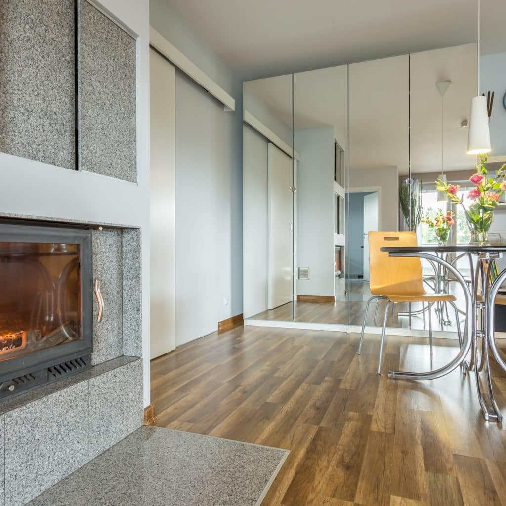 Fireplace at the living room