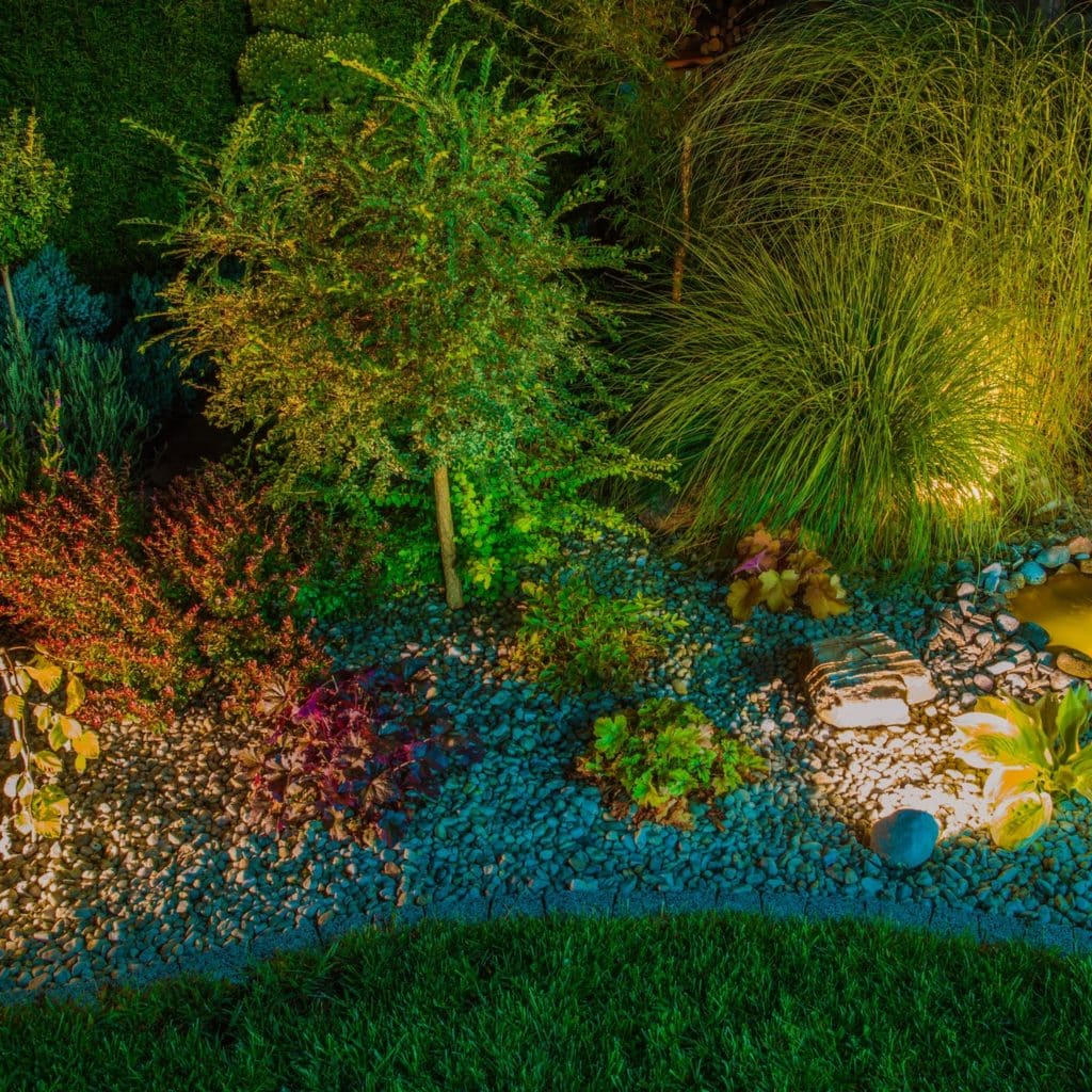 Rocky Garden with Lighting